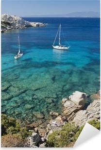 Pixerstick Aufkleber Die Bucht von Cala Spinosa in Sardinienp
