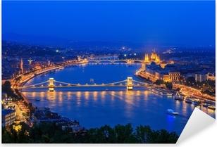 Pixerstick Aufkleber Donau. Budapest. Ungarnp