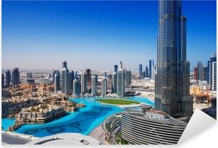 Pixerstick Aufkleber Downtown Dubai ist ein beliebter Ort für Shopping und Sightseeingp