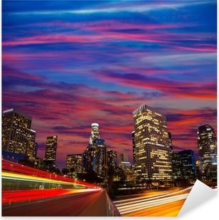 Pixerstick Aufkleber Downtown LA Los Angeles Nacht sunset Skyline Kalifornien