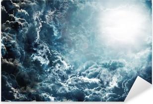 Pixerstick Aufkleber Dunklen Himmel mit Mondp