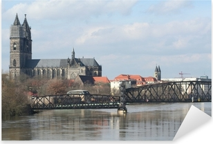 Pixerstick Aufkleber Elbe und dom in magdeburgp