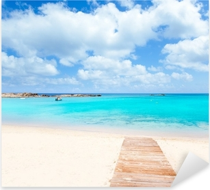 Pixerstick Aufkleber Els Pujols Formentera weißen Sand türkisfarbenen Strand
