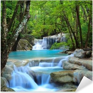 Pixerstick Aufkleber Erawan Wasserfall, Kanchanaburi, Thailand