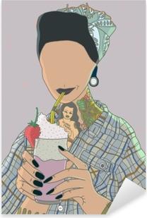 Pixerstick Aufkleber Faceless Frau - Ricardo X Parker