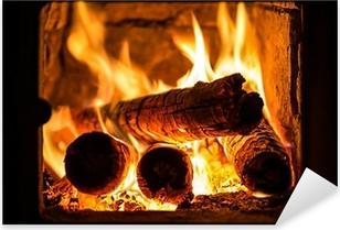 Pixerstick Aufkleber Feuer in einem Kamin