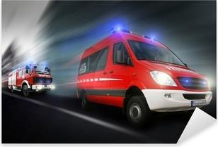 Pixerstick Aufkleber Feuerwehreinsatz