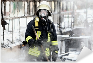 Pixerstick Aufkleber Feuerwehrmann
