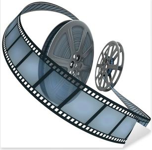 Pixerstick Aufkleber Filmrolle. Konzept der Industrie Kinofilmen.p
