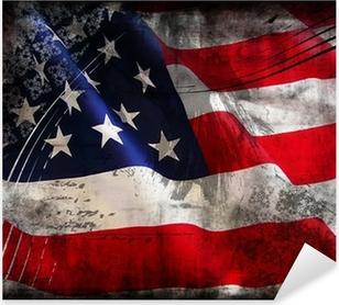 Pixerstick Aufkleber Flagge der USA (Vereinigte Staaten von Amerika)