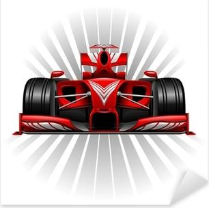 Pixerstick Aufkleber Formel 1 Red Racing Car