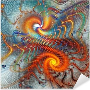 Pixerstick Aufkleber Fractal Spirale Hintergrundp