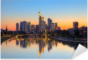 Pixerstick Aufkleber Frankfurt am Abenddämmerung Startseitep
