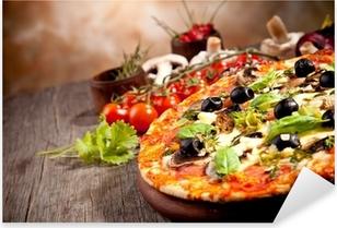 Pixerstick Aufkleber Frische italienische Pizza