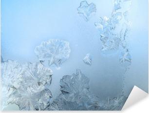 Pixerstick Aufkleber Frosty Muster an einem Winter Fensterglasp