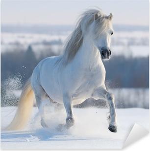Pixerstick Aufkleber Galloping weißen Pferd