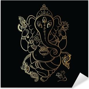 Pixerstick Aufkleber Ganesha Hand gezeichnete Illustration.