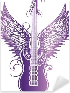 Pixerstick Aufkleber Gitarre wing tribalp