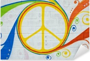Pixerstick Aufkleber Graffiti Hippie-Symbol.p