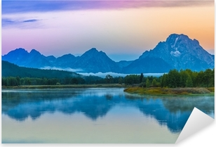 Pixerstick Aufkleber Grand Teton Reflection am Sonnenaufgangp