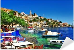 Pixerstick Aufkleber Griechische Feiertage. Insel Symi