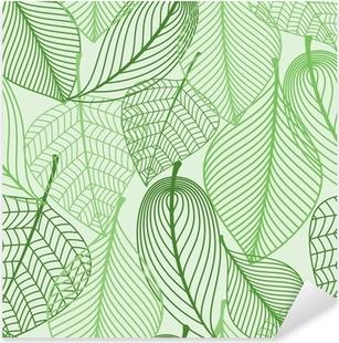 Pixerstick Aufkleber Grüne Blätter nahtlose Muster Hintergrund