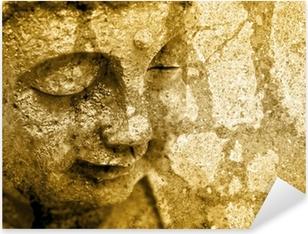 Pixerstick Aufkleber Grunge Buddha Background - Sepia Fx