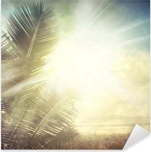 Pixerstick Aufkleber Grunge palm-9