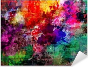 Pixerstick Aufkleber Grunge-Stil abstrakte Aquarell Hintergrundp