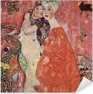 Pixerstick Aufkleber Gustav Klimt - Die Freundinnenp