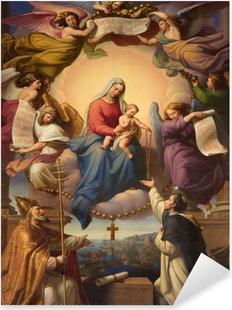 Pixerstick Aufkleber Heiligen Maria und dem kleinen Jesus aus Wien Kirche