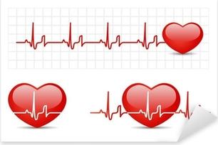 Pixerstick Aufkleber Herz-EKG mit Herz