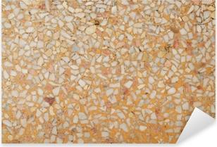 Pixerstick Aufkleber Hintergrundbild des alten Terrazzobodens
