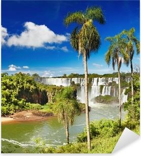 Pixerstick Aufkleber Iguassu Falls, Blick vom argentinischen Seite