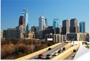 Pixerstick Aufkleber Innenstadt von Philadelphia
