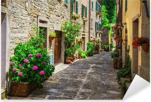 Pixerstick Aufkleber Italienisch-Straße in einer kleinen Provinzstadt der toskanischenp