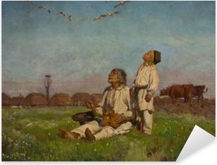 Pixerstick Aufkleber Józef Chełmoński - Storche