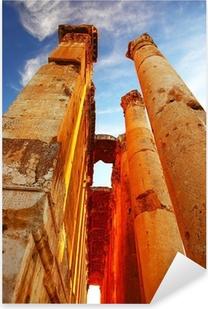 Pixerstick Aufkleber Jupiters Tempel über blauen Himmel, Baalbek, Libanonp