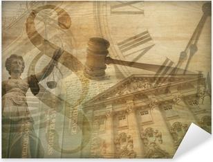 Pixerstick Aufkleber Justice Collage