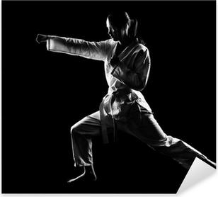Pixerstick Aufkleber Karatemädchen