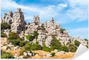 Pixerstick Aufkleber Karstlandschaft, Torcal Antequera