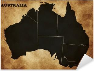 Pixerstick Aufkleber Karte von Australien auf dem alten Textur