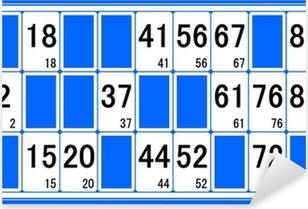 Pixerstick Aufkleber Karton Lotto Nummer 1p