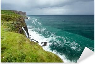 Pixerstick Aufkleber Kilt Rock Meerlandschaft, Isle of Skye, Schottland