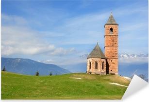 Pixerstick Aufkleber Kirche St. Kathrein bei Hafling - Südtirol