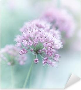 Pixerstick Aufkleber Knoblauch Blumen