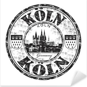 Pixerstick Aufkleber Köln grunge Stempel