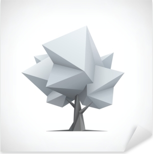 Pixerstick Aufkleber Konzeptioneller polygonaler Baum. abstrakte vektorabbildung.