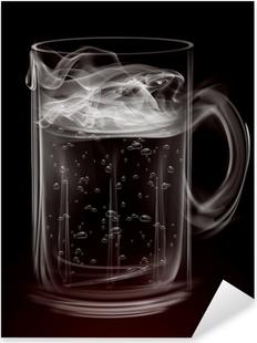 Pixerstick Aufkleber Künstlerische Smoke Bierkrug