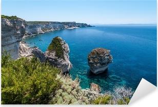 Pixerstick Aufkleber Küste von Bonifacio, Korsika, Frankreichp